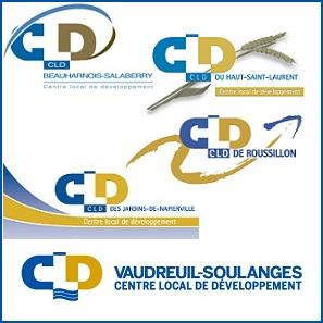 Les-5-CLD-de-la-Vallee-du-Haut-St-Laurent-logos-publies-par-INFOSuroit_com