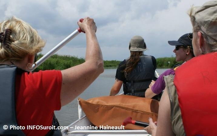 reserve nationale de faune du lac St-Francois en canot Photo INFOSuroit-Jeannine_Haineault