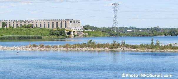 Barrage d Hydro-Quebec Les Cedres pres de Saint-Timothee Photo INFOSuroit_com