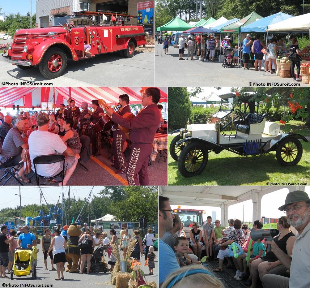 Fete des Moissons 2014 a Ste-Martine Camion de pompiers auto antique visiteurs et plus Photos INFOSuroit_com