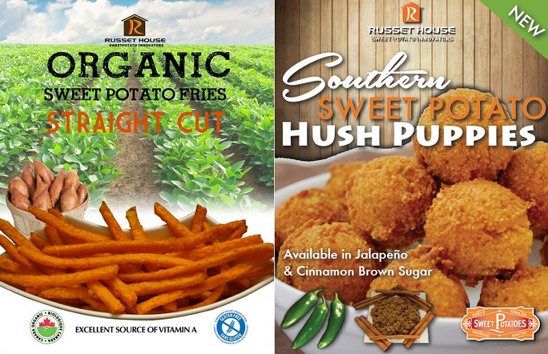 Maison Russet Organic Sweet Potato Fries et Southern Husp Pupiies extraits site Web Russethouse_com