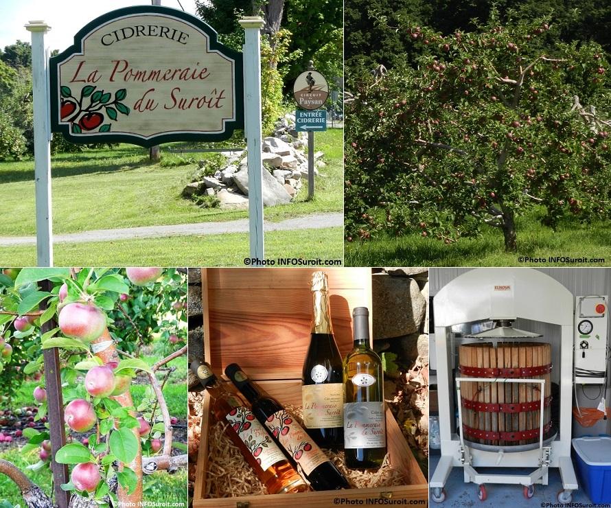 Pommeraie du Suroit enseigne et Circuit du Paysan pommes cidres et baril Photos INFOSuroit