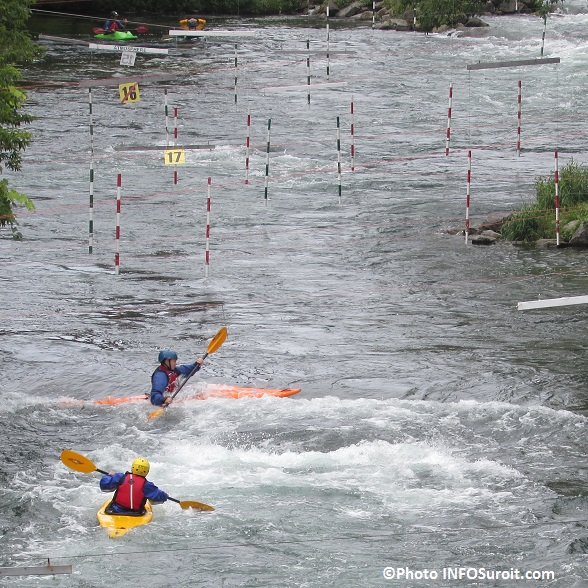 kayakistes en pratique riviere Saint-Charles Valleyfield Photo INFOSuroit_com