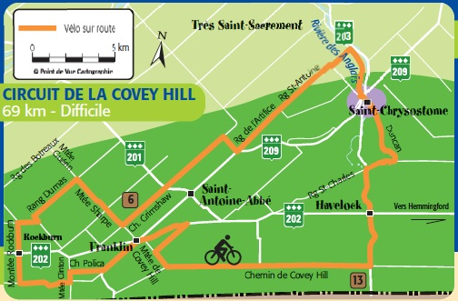 velo Haut-Saint-Laurent circuit de la Covey Hill Image courtoisie