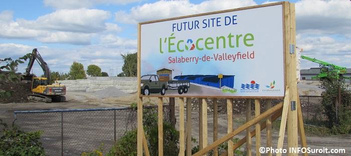 Futur site Ecocentre sur boulevard Mgr-Langlois construction travaux Photo INFOSuroit_com