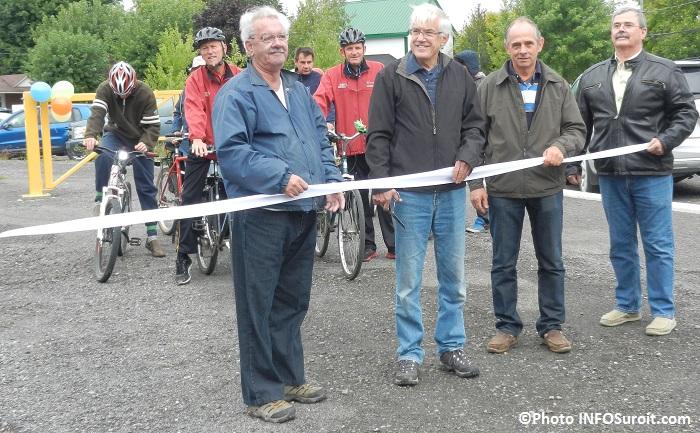 Inauguration  Parc regional Cyclo-nature du Haut-Saint-Laurent coupe du ruban Photo INFOSuroit_com