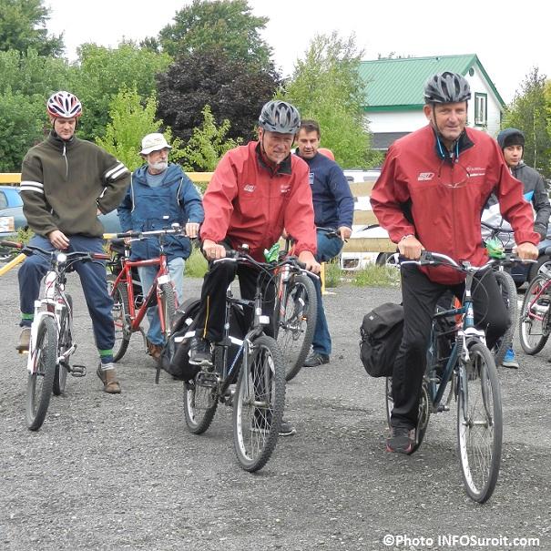 Inauguration  Parc regional Cyclo-nature du Haut-Saint-Laurent premiers cyclistes Photo INFOSuroit_com