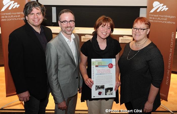 MUSO Prix patrimoine 2014 SMasse DTrudel ALaliberte et MCharrette Photo Robert_Cote