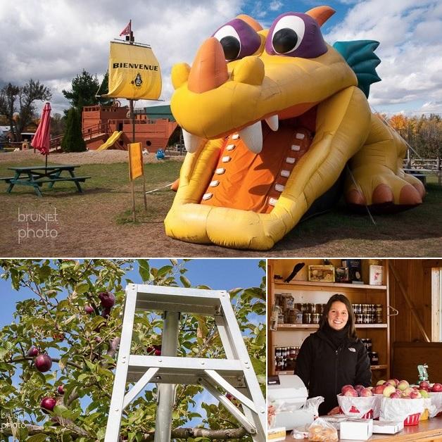 Vergerdupirate bateau parc jeux pommes et boutique Photos Brunet via Vergerdupirate_com