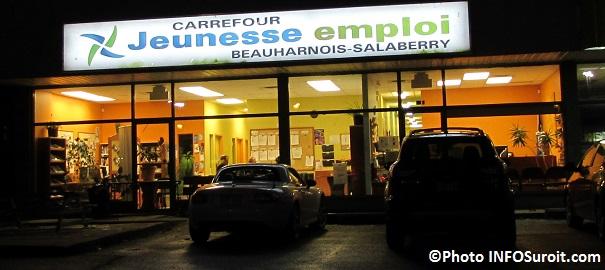 Carrefour jeunesse emploi CJE Beauharnois-Salaberry enseigne a la noirceur Photo INFOSuroit_com