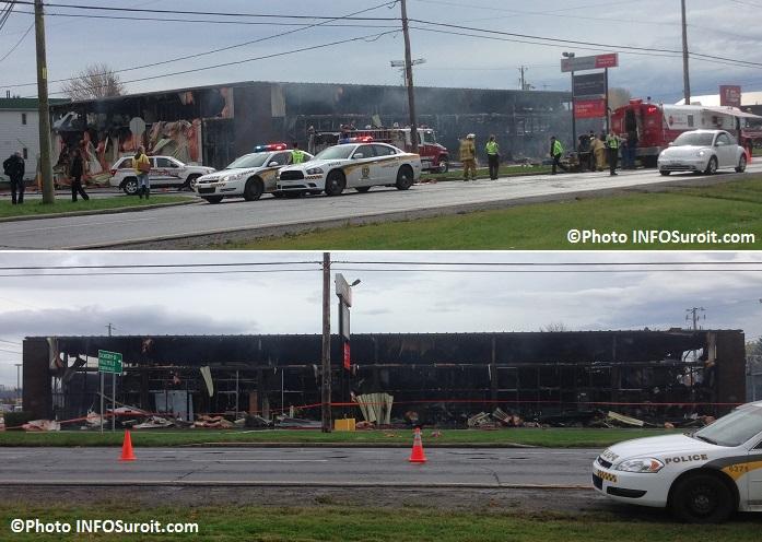 Incendie 940 boulevard Mgr-Langlois Valleyfield 16 octobre 2014 Photos INFOSuroit_com