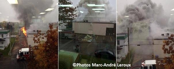 Incendie boulevard Mgr-Langlois Valleyfield Photos MarcAndreLeroux