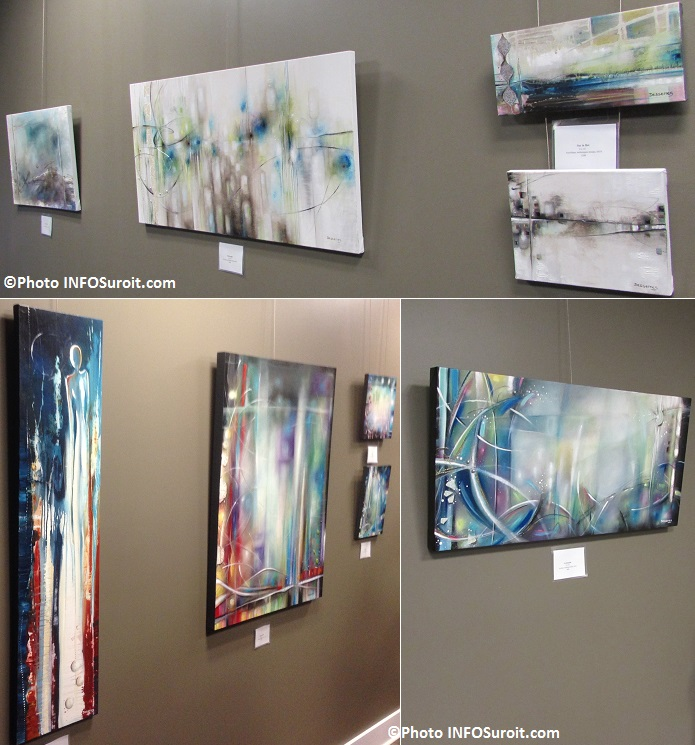 Oeuvres de ManonDesserres a la galerie de la MRC Photos INFOSuroit_com