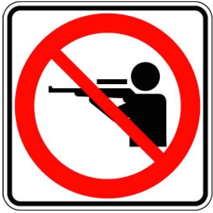 Panneau Interdiction de chasse Image courtoisie MRC Beauharnois-Salaberry