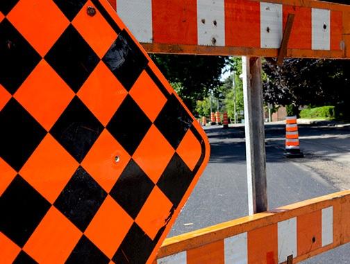 panneau travaux chantier pavage detour Photo Ville de Chateauguay