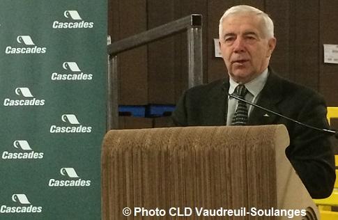 Alain_Lemaire patron de Cascades annonce investissement Norampac Photo CLDVS