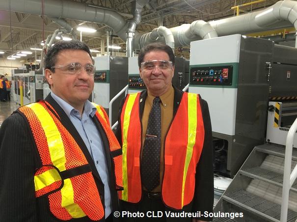 Andre_Therrien directeur des ventes Norampac et Paul_Normand conseiller municipal Photo CLD VS