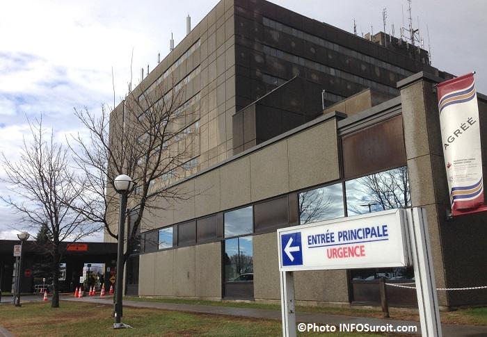 CSSS du Suroit entree urgence Hopital et banniere AgrementCanada Photo INFOSuroit_com