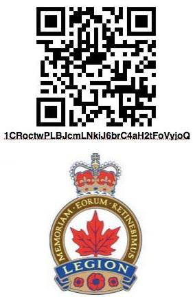 Code QR et logo Legion royale canadienne