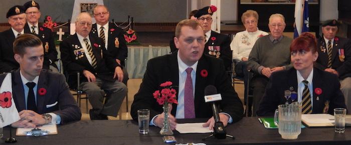 Depute SylvainChicoine a Legion royale canadienne de Chateauguay pour campagne de financement Photo courtoisie