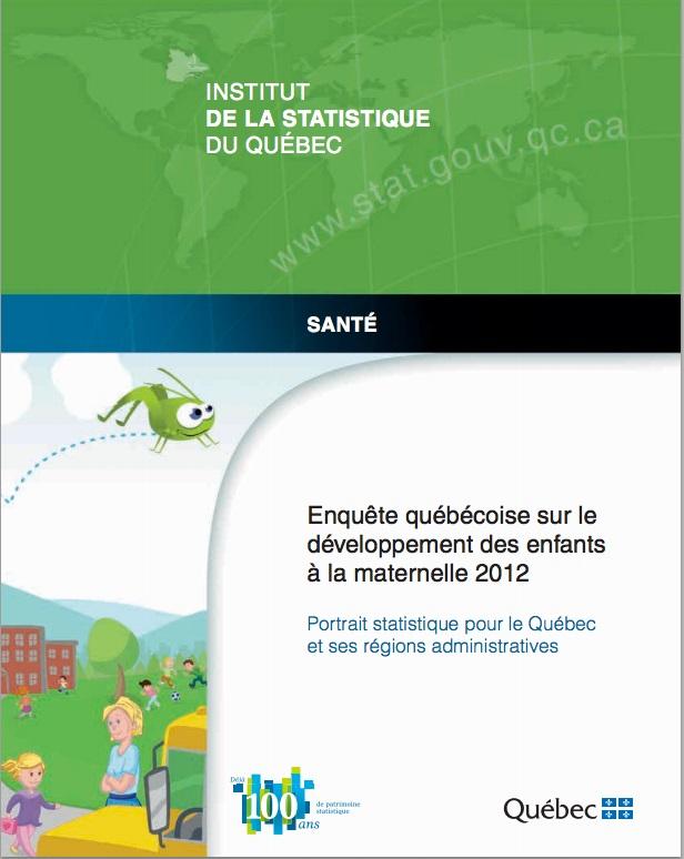 Enquete quebecoise sur developpement des enfants a la maternelle Courtoisie ISQ