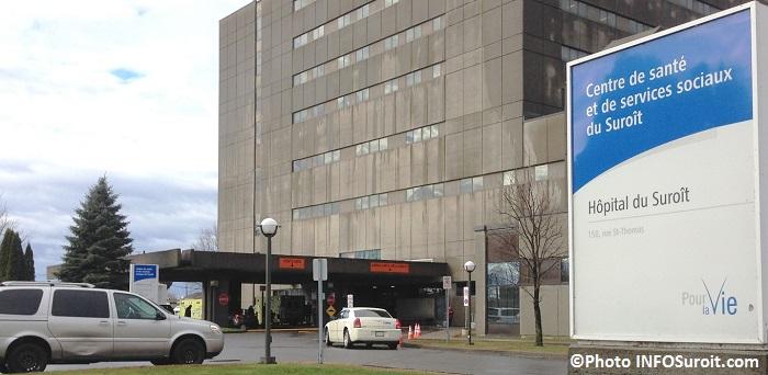 Entree temporaire urgence ambulance et entree principale visiteurs Photo INFOSuroit_com