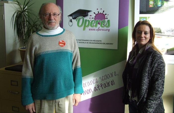 OPERES partenaires pour la perseverance scolaire Pierre_LaGrenade et Anne-Marie_Martel Photo courtoisie MRC BHS