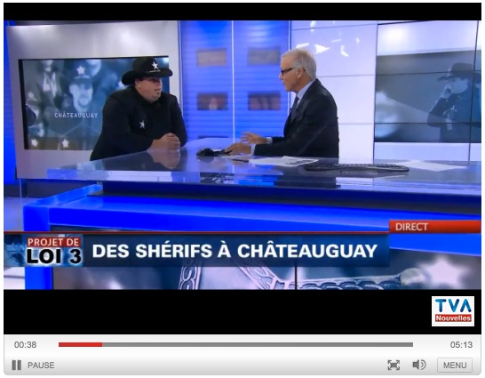 Policiers de Chateauguay en sherifs Entrevue Francois_Lemay avec Pierre_Bruneau de TVA LCN