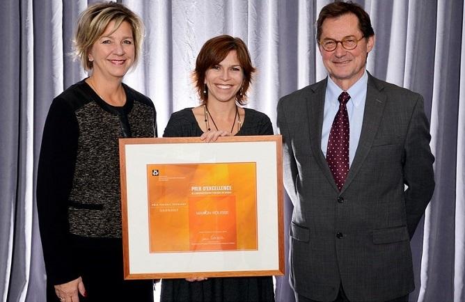 Prix excellence Lucie Robitaille de IAPQ laureate Manon_Rousse et Xavier_Fonteneau Jury Photo ENAP