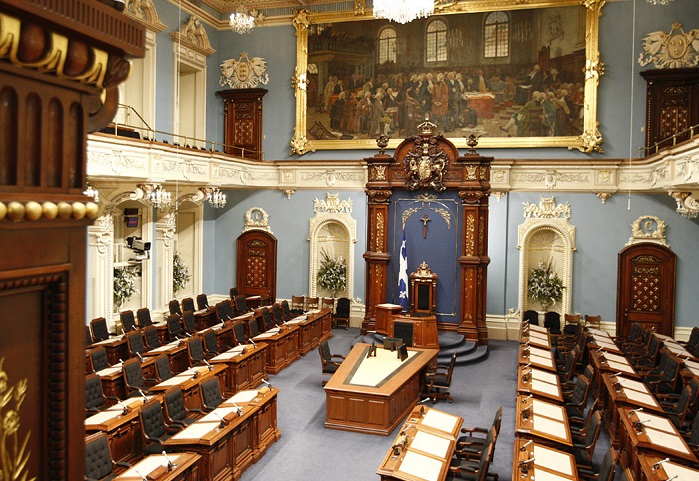 Salle assemblee nationale du Parlement a Quebec Photo CC assnat