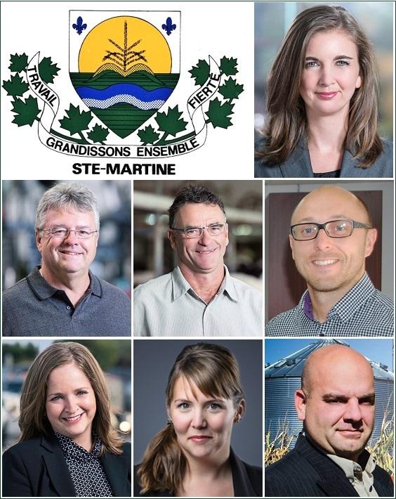 Ste-Martine-logo-et-membres-du-conseil-municipal-Photos-courtoisie-publiees-par-INFOSuroit_com