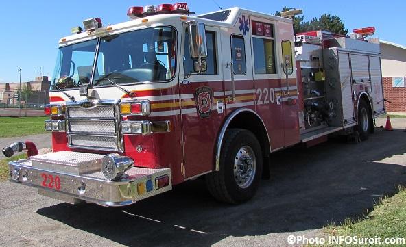 camion de pompiers service de securite incendie Chateauguay Photo INFOSuroit_com