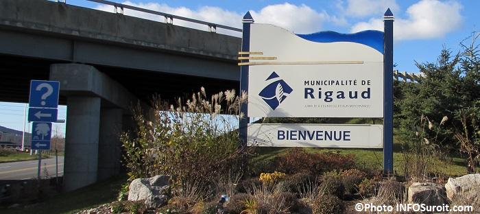 enseigne Municipalite de Rigaud pres A40 Photo INFOSuroit_com