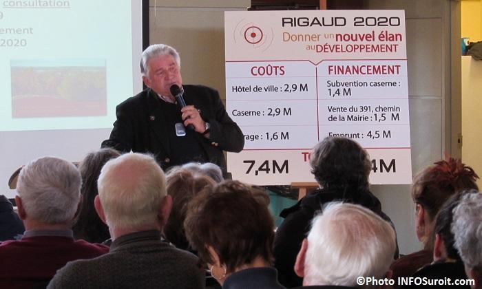 rencontre citoyenne Rigaud 2020 maire Hans_Gruenwald_Jr et citoyens 15 novembre 2014 Photo INFOSuroit_com