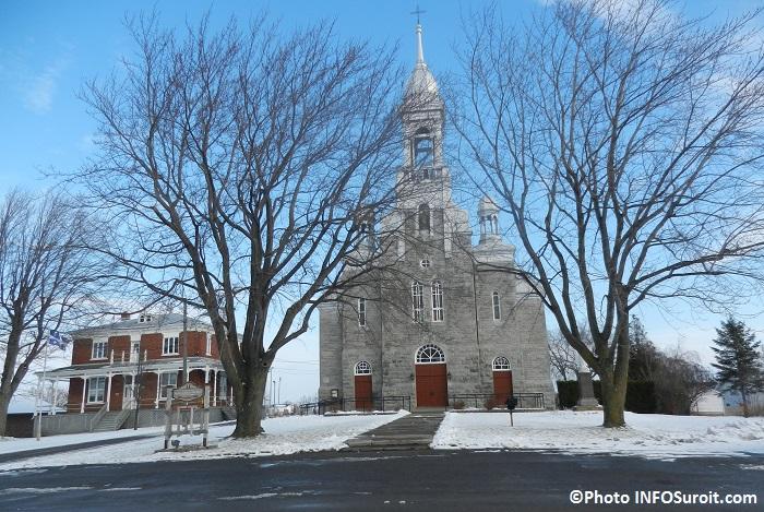 Eglise de Saint-Urbain-Premier automne hiver Photo INFOSuroit_com