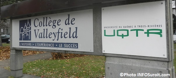 Enseigne UQTR et College de Valleyfield Photo INFOSuroit