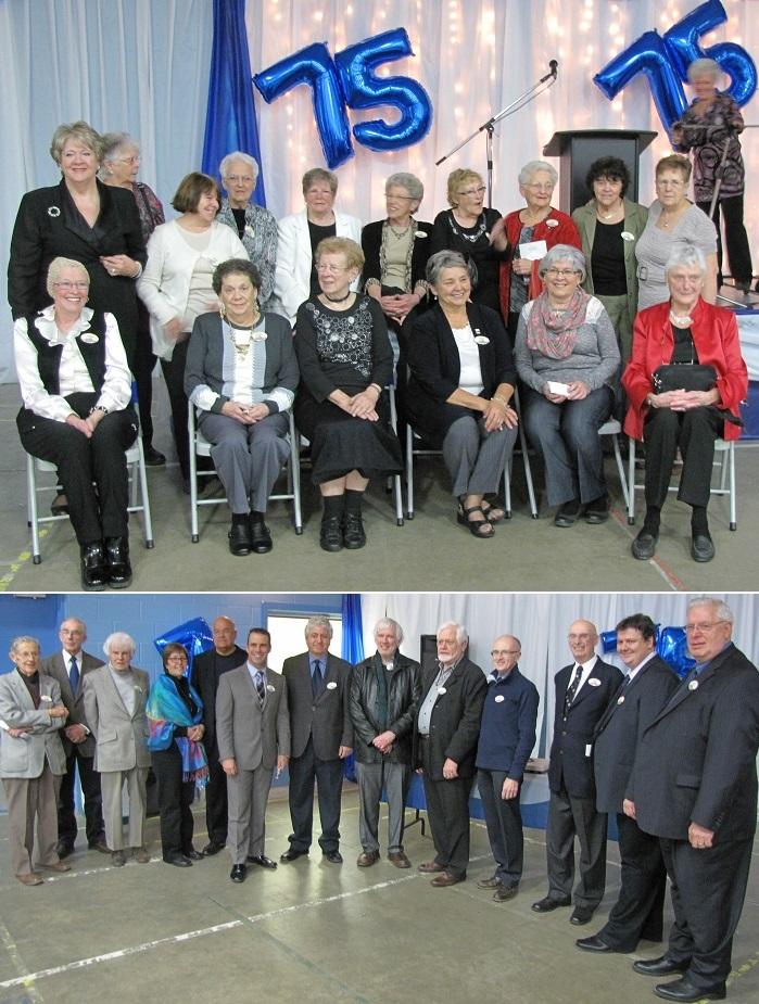 Quelques retraitees du CSSS du Haut-Saint-Laurent et medecins avec SBillette et plus Photos courtoisie CSSS