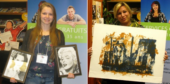 Vocation en art CJE BHS Gagnantes LisaMorin et KarineHebert Photos courtoisie