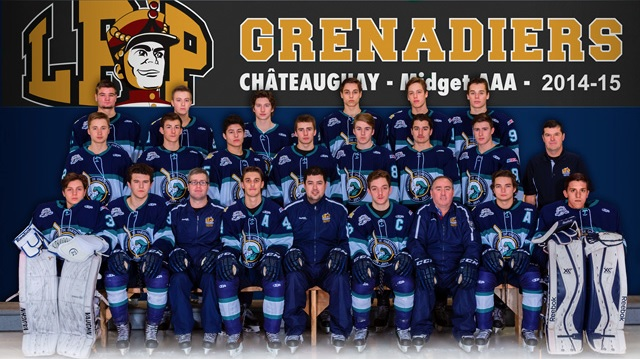 Grenadiers de Chateauguay Hockey Midget Photo d equipe 2014-2015