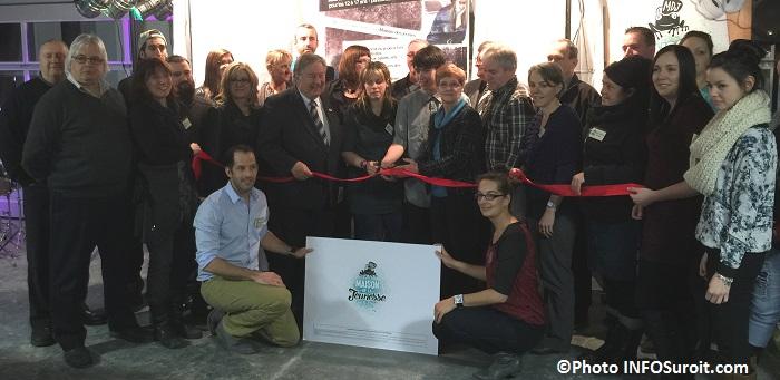 Maison des jeunes Valleyfield inauguration Coupe de ruban Photo INFOSuroit_com