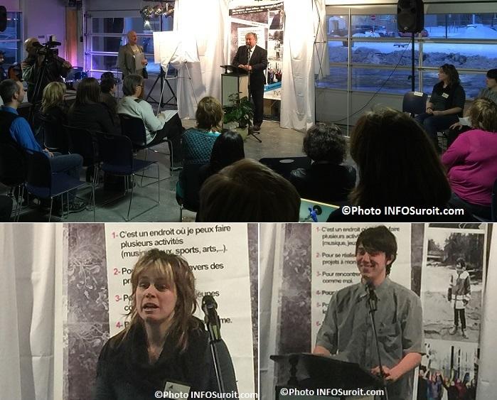 Maison des jeunes Valleyfield inauguration DLapointe CLeger et VRochefort Photos INFOSuroit_com