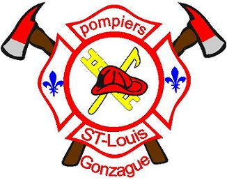 Pompiers St-Louis-de-Gonzague logo officiel