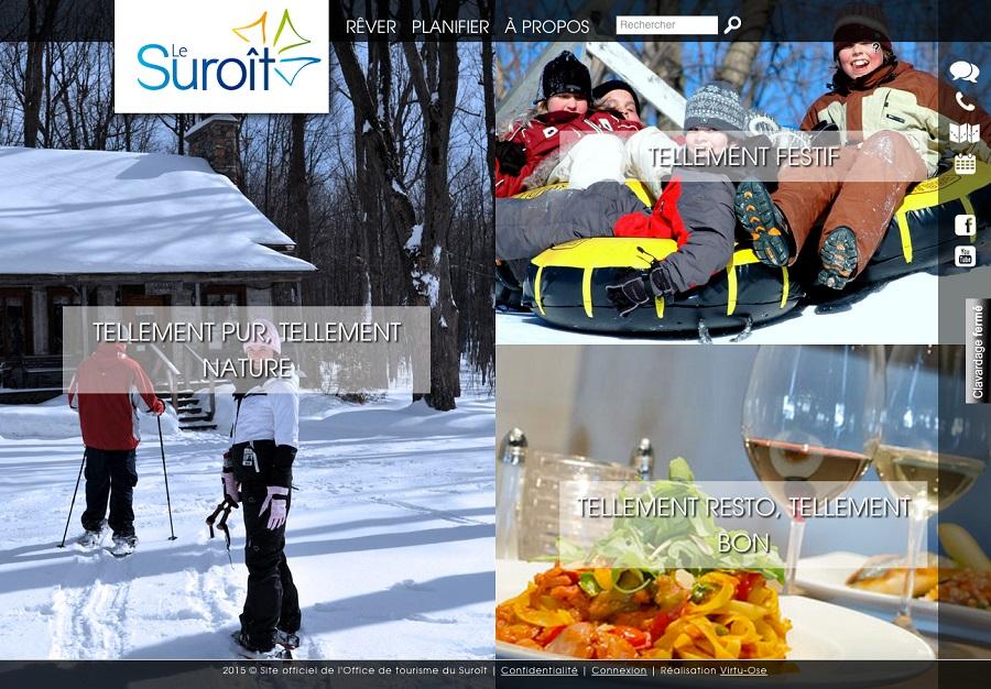 Tourisme Suroit nouveau site Web 2015