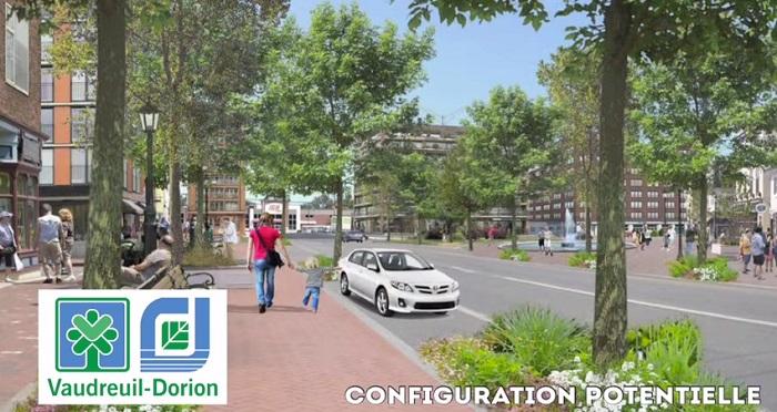 revitalisation boul Harwood configuration potentielle Extrait video Ville de Vaudreuil-Dorion