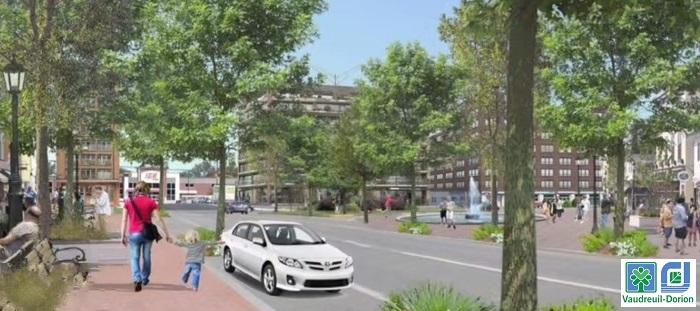 revitalisation du boul Harwood configuration potentielle Extrait video Ville de Vaudreuil-Dorion