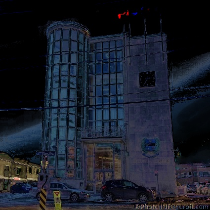 Hotel-de-Ville-Salaberry-de-Valleyfield-hiver-et-nuit-Photo-INFOSuroit-com