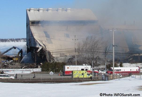 Incendie usine Kruger route 132 Beauharnois Photo INFOSuroit_com