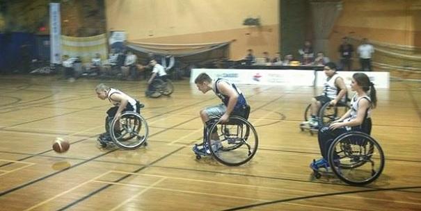 Jeux du Qc Basketball en fauteuil roulant Photo delegation du Sud-Ouest
