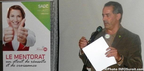 SADC du Suroit-Sud Robert_Lafrance DG pour 10 ans de Mentorat en 2013 Photo INFOSuroit
