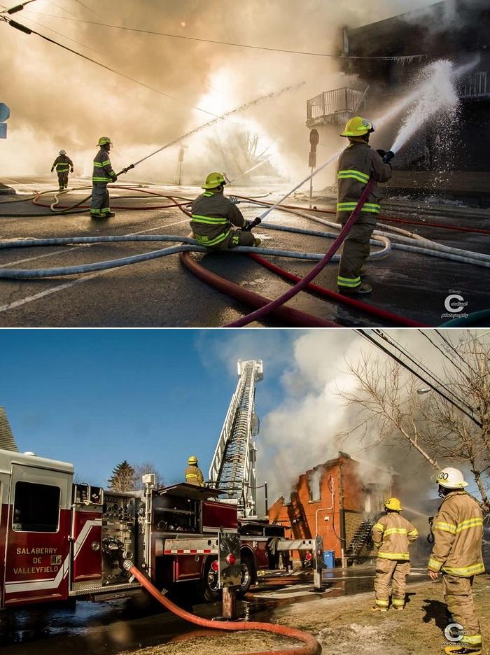 incendie a St-Stanislas-de-Kostka 24 mars 2015 Photos Deny_Cardinal